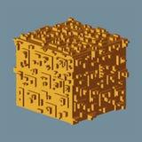 Abstrakt isometrisk kublogo också vektor för coreldrawillustration Isolerad symbol vektor för bild för designelementillustration arkivfoton