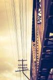 Abstrakt järnvägsbro och tråd Royaltyfri Foto