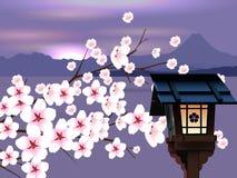 Abstrakt japanskt landskap vektor illustrationer