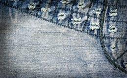 Abstrakt jeansbakgrund Royaltyfria Bilder