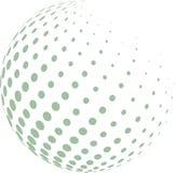 Abstrakt jordklot med den gröna halvton royaltyfri illustrationer