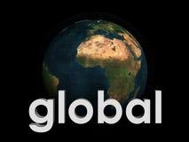 Abstrakt jordklot med global titel Royaltyfri Bild