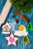 Abstrakt jul och bakgrund för nytt år med gammalt tappningträ Fotografering för Bildbyråer