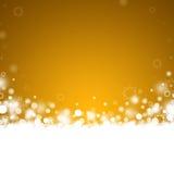 Abstrakt julbakgrund för guld Royaltyfria Bilder