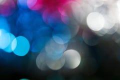 Abstrakt julbakgrund. Kulöra ljus för ferie Arkivfoto