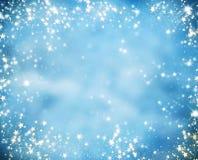 Abstrakt julbakgrund med blänker stjärnor royaltyfri bild