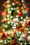 Abstrakt julbakgrund med bokehljus Royaltyfria Bilder