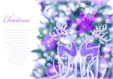 Abstrakt julgräns Royaltyfri Bild