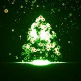 Abstrakt julgran Royaltyfri Bild