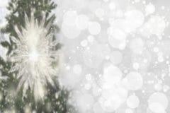 Abstrakt julgranbokehbakgrund Abstrakt suddig festi royaltyfri fotografi