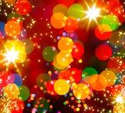 Abstrakt julgranljusbakgrund Arkivbilder