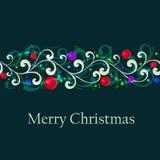 Abstrakt julgränskort Royaltyfri Foto