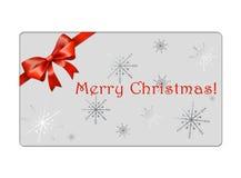 Abstrakt juljordklotvykort - giftcards Royaltyfri Fotografi