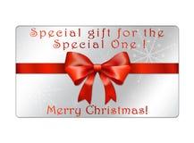 Abstrakt juljordklotvykort - giftcards Royaltyfria Bilder