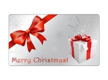 Abstrakt juljordklotvykort - giftcards Royaltyfri Foto
