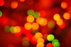 abstrakt jullampor Arkivfoto