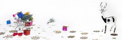 Abstrakt julsammansättning Arkivfoto