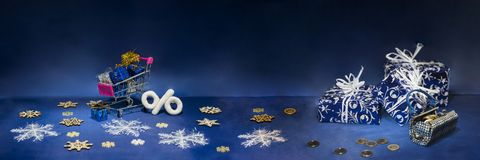 Abstrakt julsammansättning vinter för vektor för snowflakes för blommor för abstraktionbakgrundsblue Royaltyfria Bilder