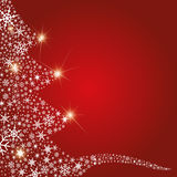 abstrakt julsnowflakestree Royaltyfri Foto