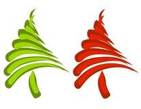 abstrakt julswooshtrees Royaltyfri Bild