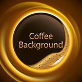 Abstrakt kaffebakgrund med glödande effekt i rörelse Arkivbild