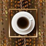 Abstrakt kaffedesign royaltyfri illustrationer
