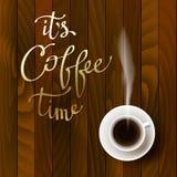 Abstrakt kaffedesign stock illustrationer