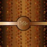 Abstrakt kaffedesign vektor illustrationer