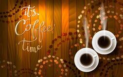 Abstrakt kaffedesign med ljus royaltyfri illustrationer