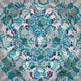 Abstrakt kalejdoskopisk triangelbakgrund i turkos, kricka, vit Arkivfoto