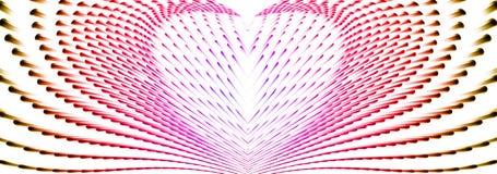 Abstrakt kall hjärta från vinkar fodrar royaltyfri illustrationer