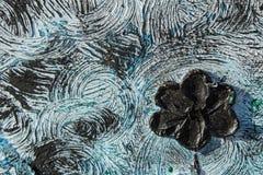 abstrakt kanfasmålning Kolossala blommor Abstrakt vår och sommar Bakgrund Royaltyfri Bild