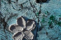 abstrakt kanfasmålning Kolossala blommor Abstrakt vår och sommar Bakgrund Fotografering för Bildbyråer