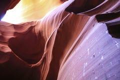 Abstrakt kanjonsandstenregnbåge av färger Royaltyfria Foton
