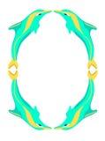 abstrakt kantdelfin Arkivbild