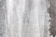 Abstrakt kanwy powierzchni popielata ręka malujący tło Obraz Stock