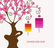 Abstrakt kinesisk lykta och bakgrund för nytt år royaltyfri illustrationer