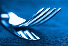 Abstrakt kniv och gaffel Fotografering för Bildbyråer