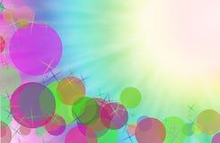 Abstrakt kolorowego tła bokeh cyfrowy skutek. Obrazy Stock