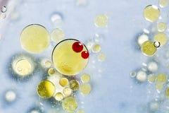 Abstrakt, kolorowy skład z olejem, woda i atrament, Obraz Royalty Free