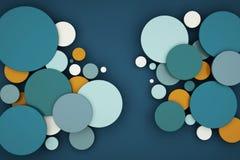 Abstrakt koloru okręgu tło ilustracji