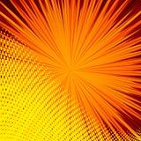 Abstrakt komisk orange bakgrund för design för stilpopkonst Arkivbilder