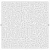 Abstrakt komplexfyrkantlabyrint med ingången och utgången En intressant lek för barn och vuxna människor Ett mystiskt pussel Vekt Stock Illustrationer