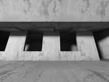 Abstrakt konkret arkitektur på himmelbakgrund Royaltyfri Foto