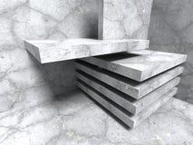 Abstrakt konkret arkitektur Sprucken stenväggbakgrund Arkivbilder