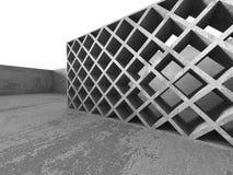 Abstrakt konkret arkitektur Sprucken stenväggbakgrund Royaltyfria Bilder