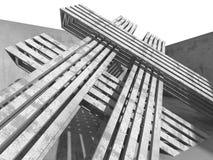 Abstrakt konkret arkitektur Sprucken stenväggbakgrund Royaltyfri Bild