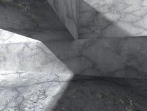 Abstrakt konkret arkitekturbakgrund Geometrisk stenconst Arkivfoto