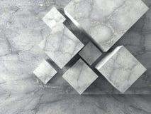 Abstrakt konkret bakgrund för kubdesignarkitektur Royaltyfri Foto