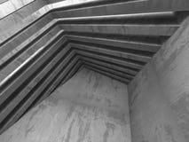 Abstrakt konkret geometrisk arkitekturbakgrund Arkivfoto